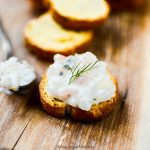 This delicious Creamy Shrimp Dip is made with fresh dill, capers, and shrimp. Perfect to serve with crackers or bread. The perfect appetizer for parties.