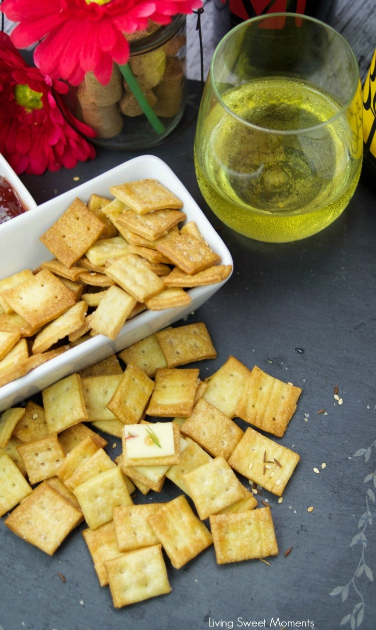 These crunchy Homemade Saltine Crackers are super easy to make and are ready in no time. The perfect appetizer cracker to serve with cheese and dips.