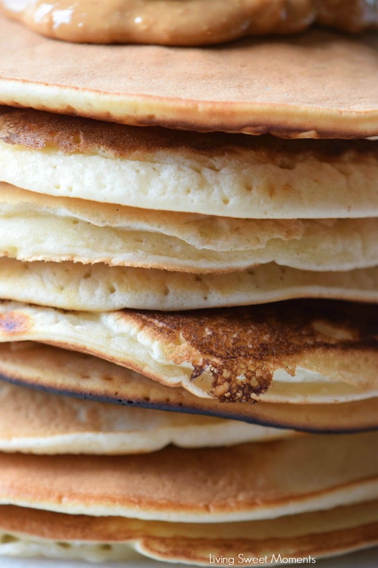 This homemade Peanut Butter Pancakes recipe is easy to make and delicious. Enjoy a wholesome breakfast with soft and fluffy pancakes that kids will love