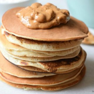 Amazingly Fluffy Peanut Butter Pancakes