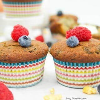 Moist Buttermilk Corn Muffins With Berries