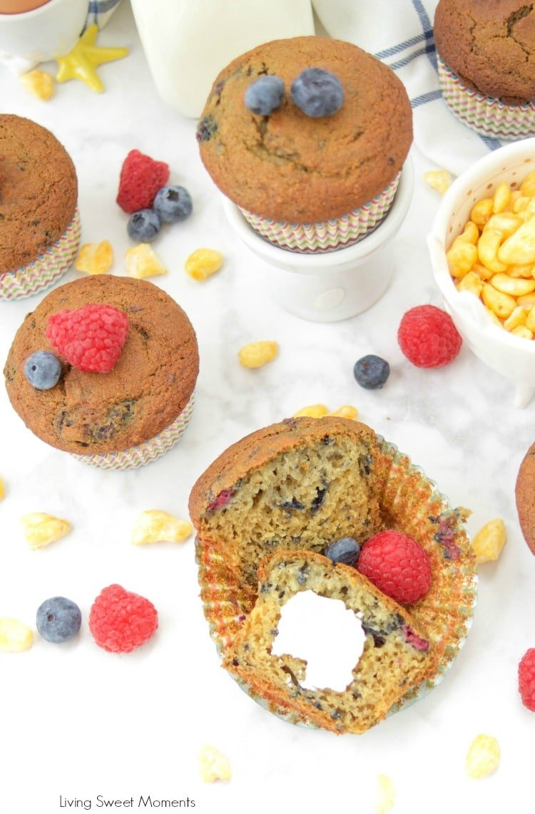 These Moist Buttermilk Corn Muffins are made with Kellogg's Corn Pops cereal to give it a distinct taste and sweetness. Perfect for breakfast & Snack time!
