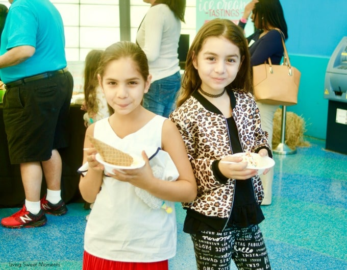 At last! Mayfield Creamery Debuts in South Florida. Miami kids eating ice cream at the children's museum