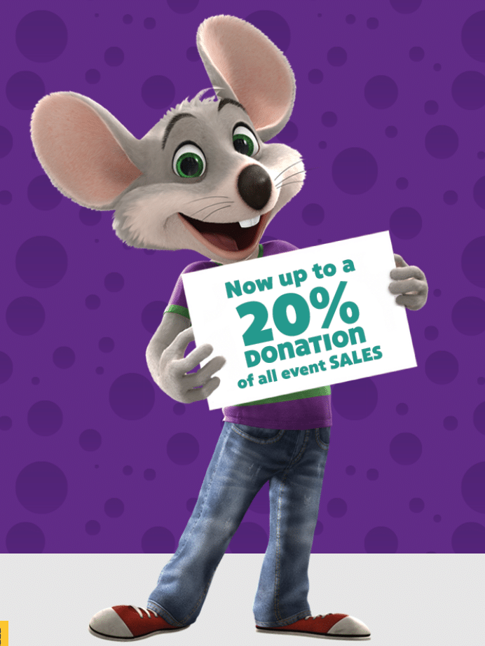 Need money for your school or non-profit organization? Plan your next Fundraiser at Chuck E. Cheese. They make it so easy and fun for kids and adults.