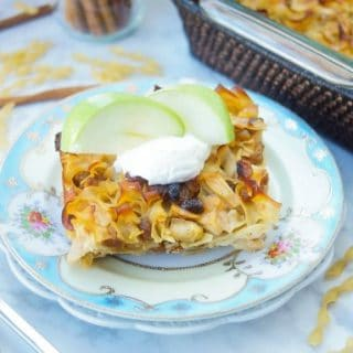 Sweet And Savory Apple Noodle Kugel