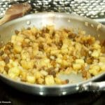 apple noodle kugel recipe. Sautéing onions and apples