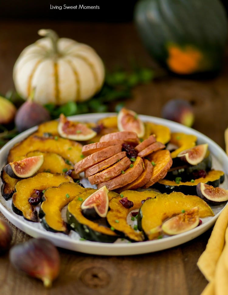 This delicate sugar Roasted Sweet Potatoes and Squash recipe requires only 5 ingredients and is the perfect Thanksgiving side dish
