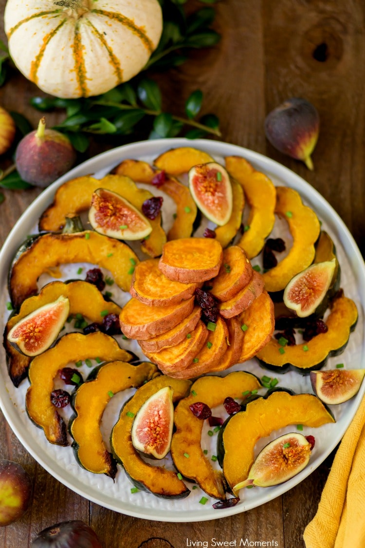 Delicious This delicate sugar Roasted Sweet Potatoes and Squash recipe requires only 5 ingredients and is super easy to make