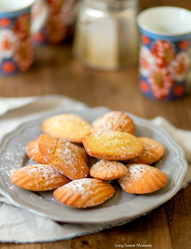 These Classic Lemon Madeleines cookies are soft, buttery, & delicious. Enjoy delicate French cookies sprinkled with confectioners sugar