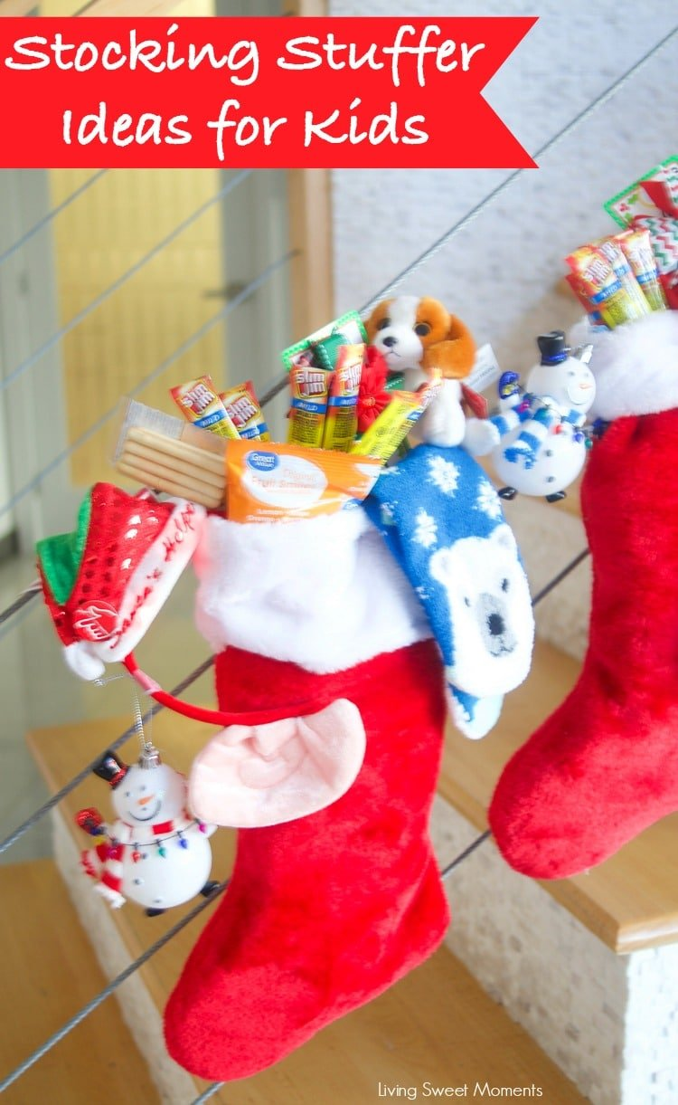 With the holidays rapidly coming up, here's a list of Stocking Stuffer Ideas For Kids displayed on a modern staircase