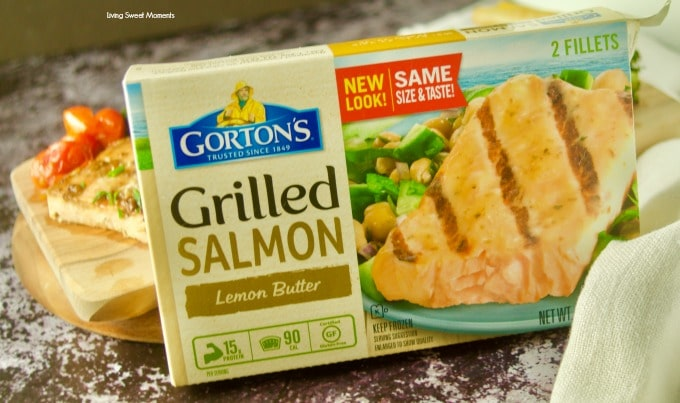 Enjoy this easy honey mustard sheet pan salmon with broccoli. Gorton's Grilled Salmon lemon butter in the box