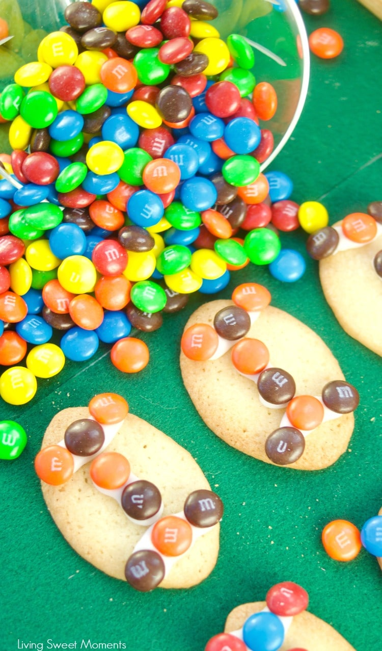 These fun M&M Football Cookies are great to serve during Superbowl parties and football events