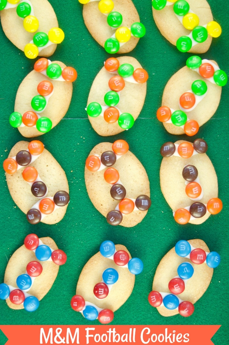 These fun M&M Football Cookies recipe