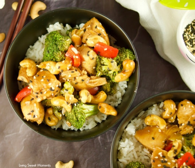 Pressure cooker cashew chicken with perdue living sweet moments this quick and easy pressure cooker cashew chicken recipe served with white rice and sprinkled with forumfinder Image collections