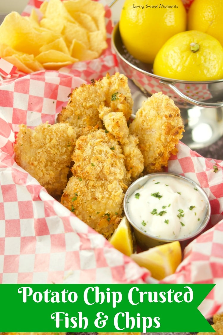 This crunchy and delicious Potato Chip Crusted Fish recipe is ready in no time