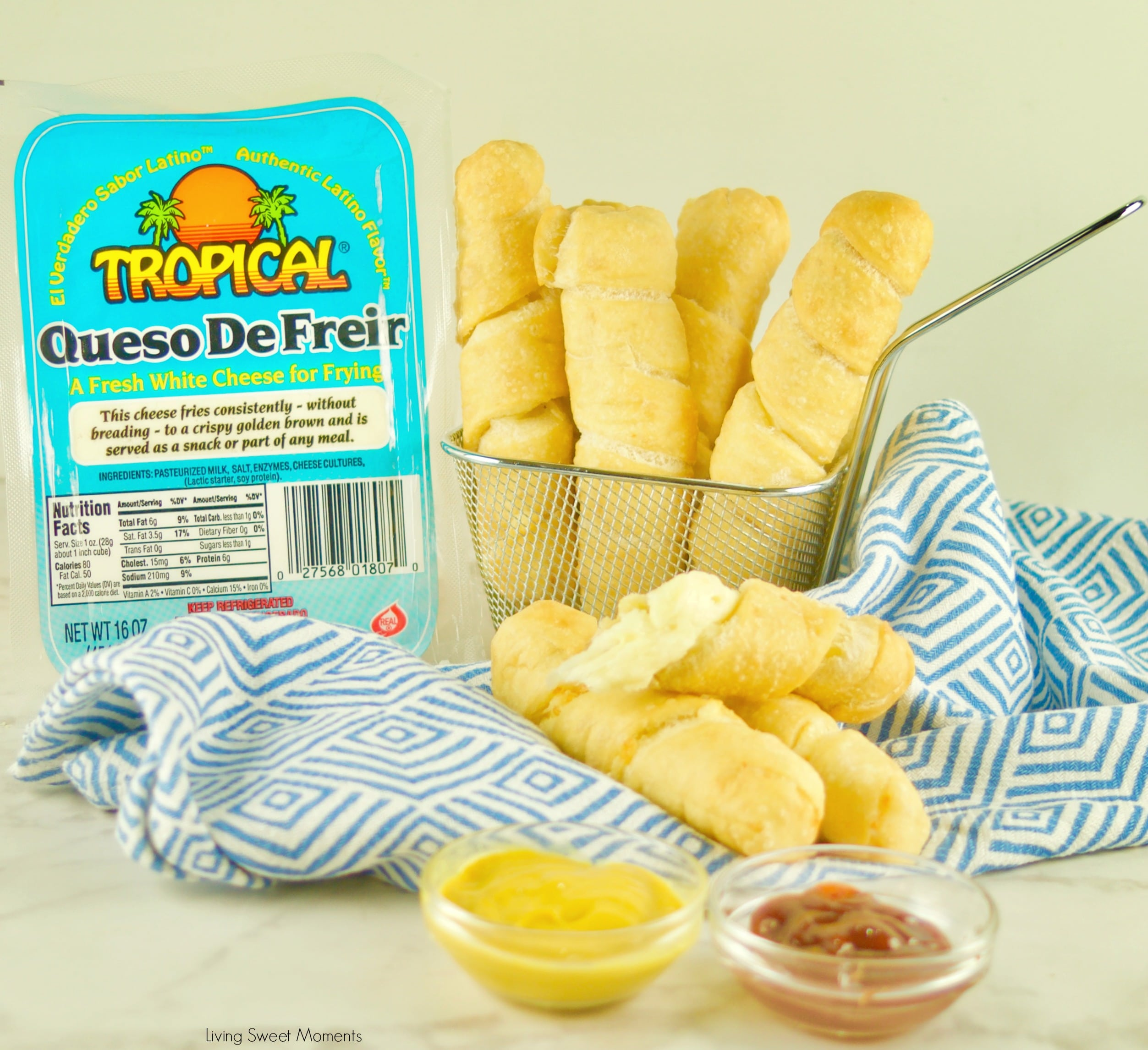 Fried until crispy golden with a cheesy center, try the Best Tequeños Recipe made with Tropical Queso de Freir.