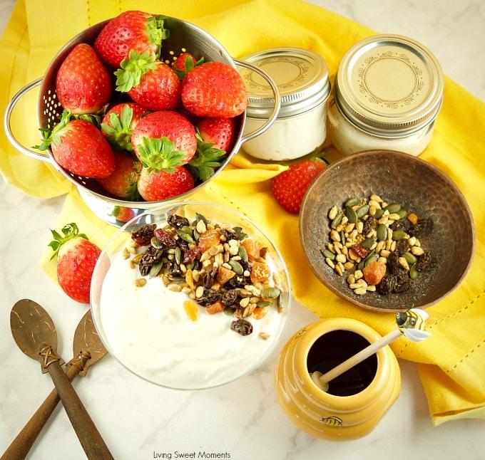 Easy Instant Pot Granola recipe made with fairlife milk and siggis yogurt