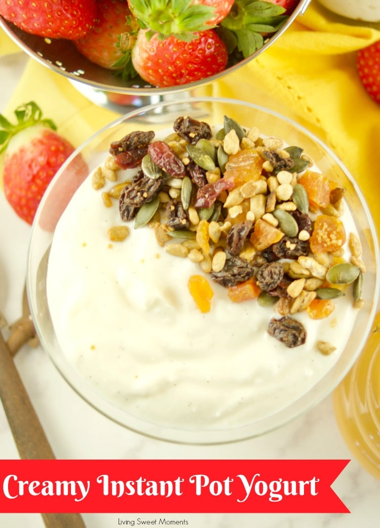This super Easy Instant Pot Yogurt recipe requires only 1 step and 4 ingredients. No boiling, straining or work required. Cold method start is the only thing needed