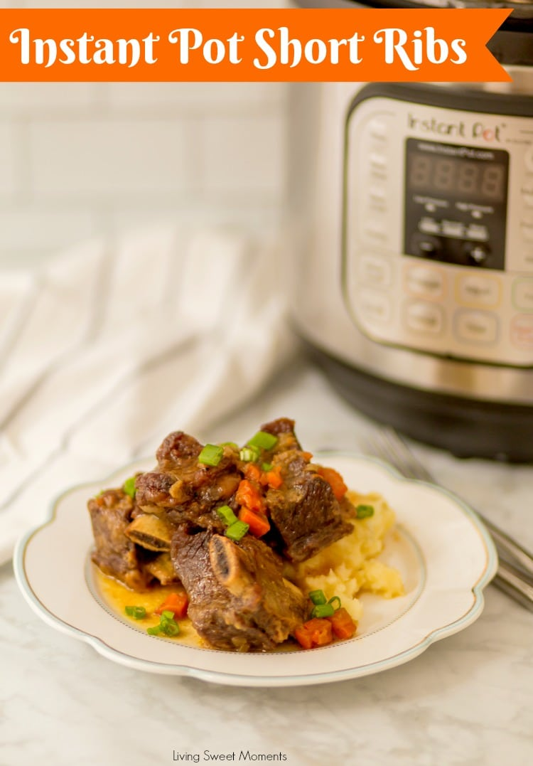 Incredibly tender instant pot short ribs living sweet moments picture of instant pot short ribs with the appliance on the back forumfinder Image collections