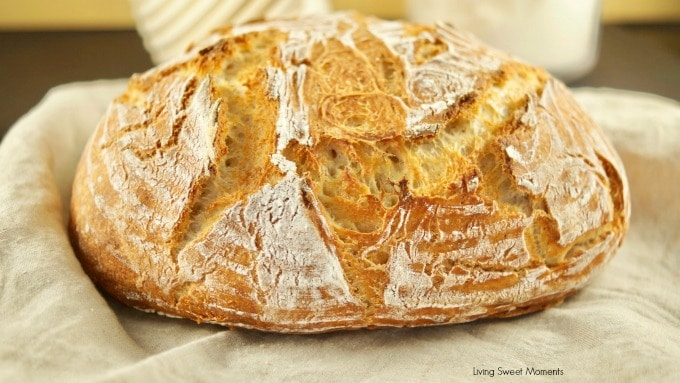 This crusty and delicious Instant Pot Sourdough Bread recipe made with yogurt