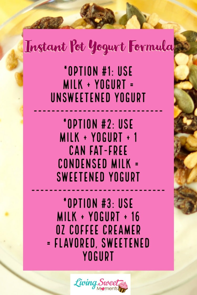 This super Easy Instant Pot Yogurt recipe formula using the cold method and variations