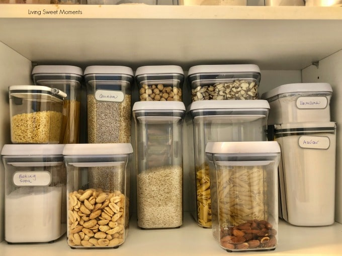 Here are some easy Pantry Organization Ideas canisters for dry goods