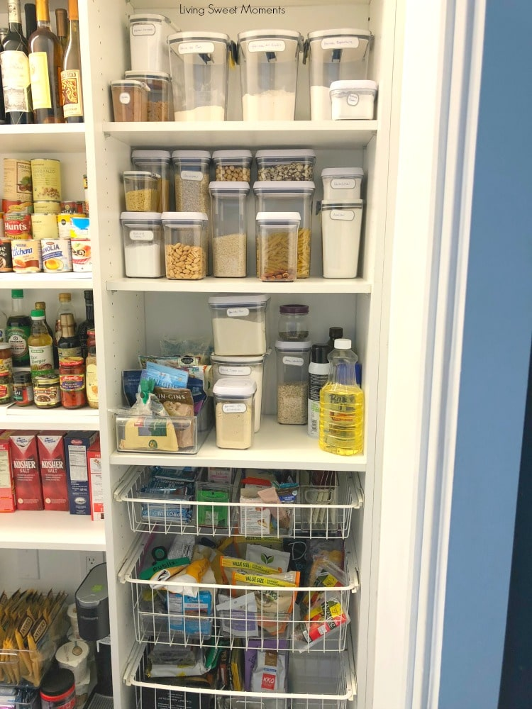 Here are some easy Pantry Organization Ideas here's a vertical look at an organized panty