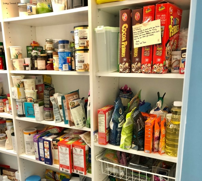 Here are some easy Pantry Organization Ideas here's the before, the disorganized pantry