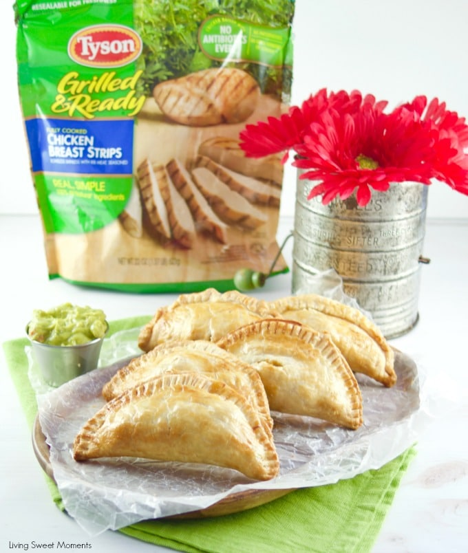 Warm, soft, and flaky, these baked chicken empanadas are super easy to make, kid friendly, and the perfect quick dinner idea that's it's not only delicious but fun as well!