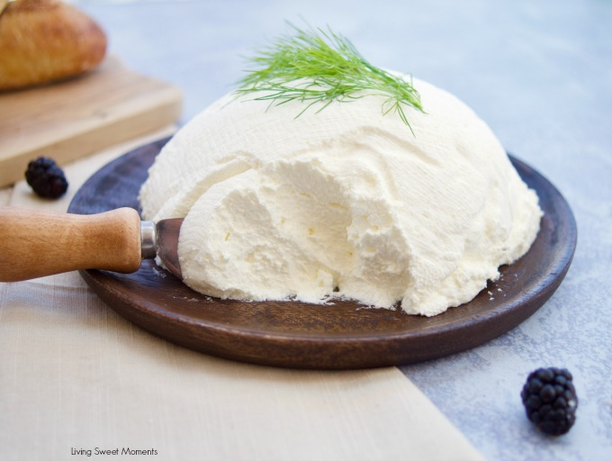 Only 2 ingredients needed for this creamy homemade mascarpone cheese and less expensive than store bought. Mascarpone served as a spread