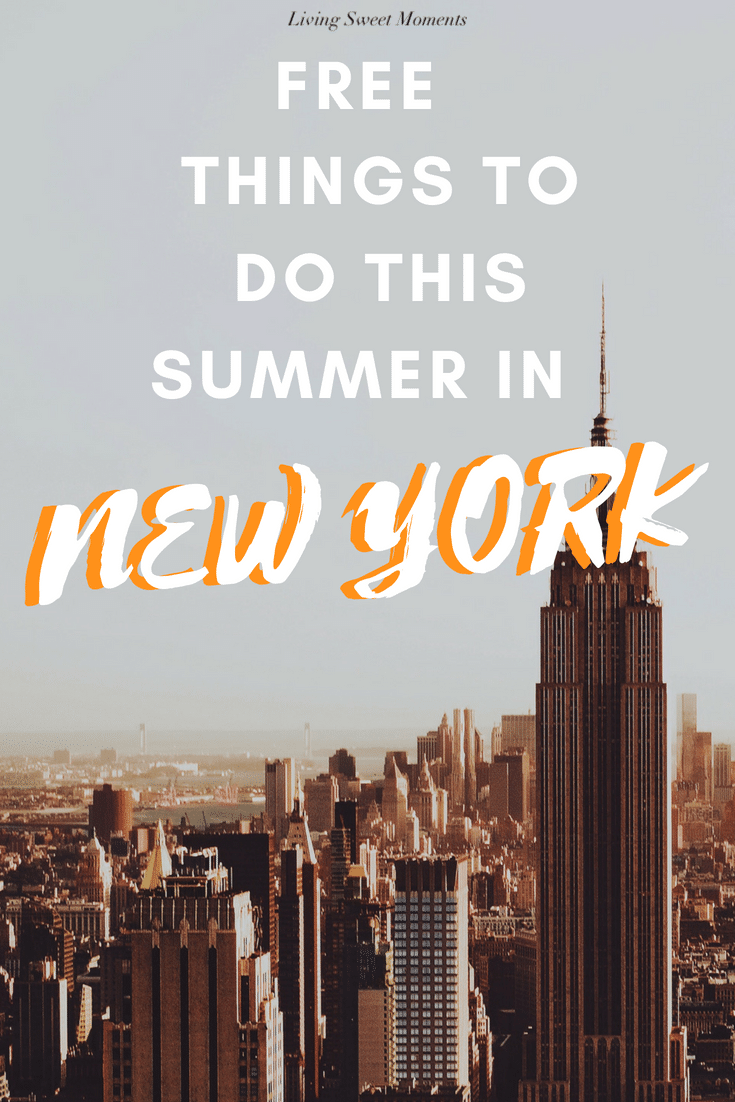 From festivals, to concerts, to movies, check out the top Free Things to do in New York this Summer - Can't say you couldn't afford to get cultured ;)