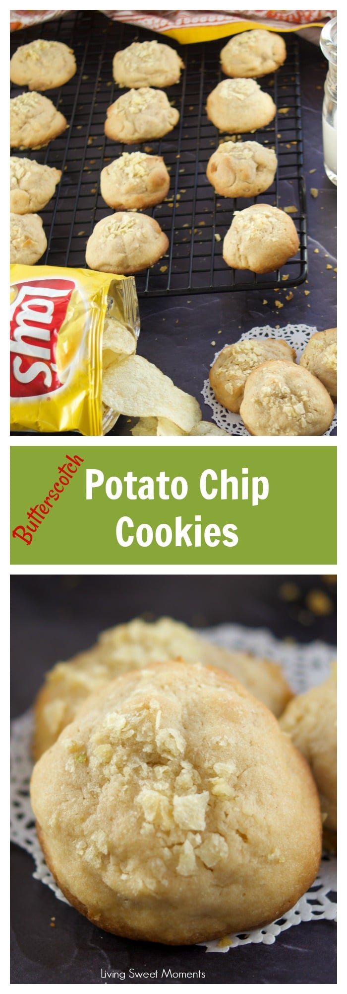These delicious Potato Chip Cookies are sweet and salty at the same time with a nice butterscotch flavor on the background. Perfect as a snack, or on the go for road trips this summer. AD