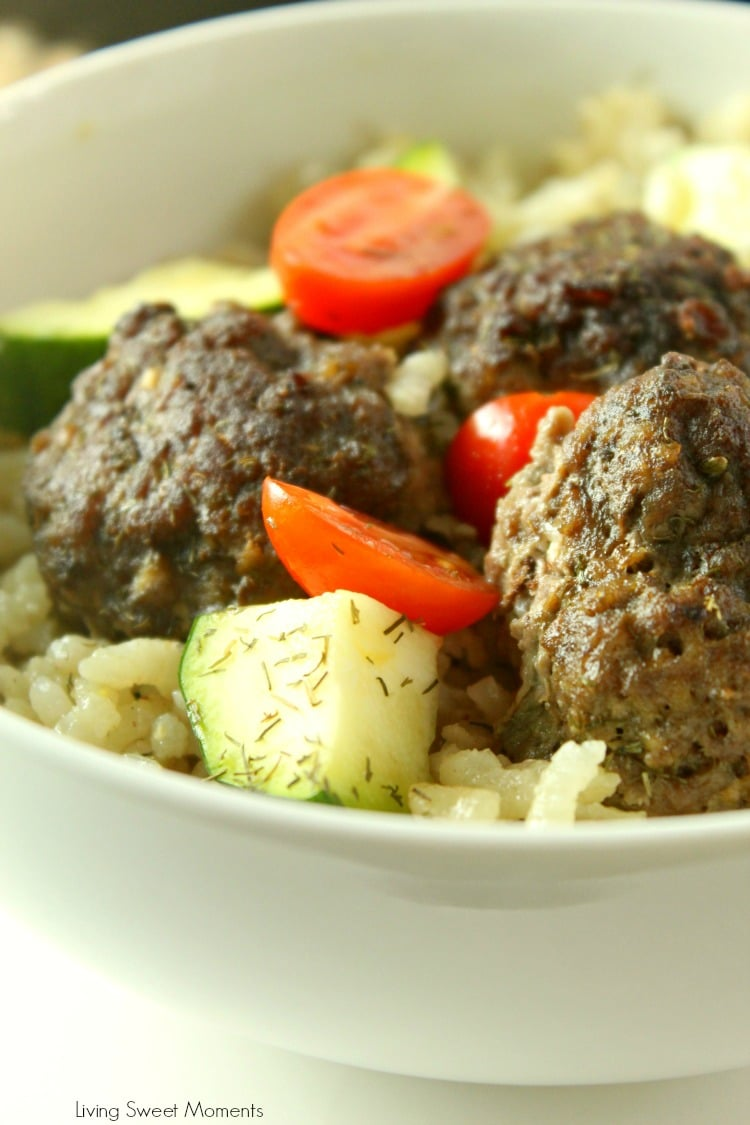 Enjoy a full meal from scratch on the table in 45 minutes or less using only one pan! This delicious One Pot Greek Meatballs is super easy to make, family friendly, and it cooks alongside a fluffy lemon dill rice.