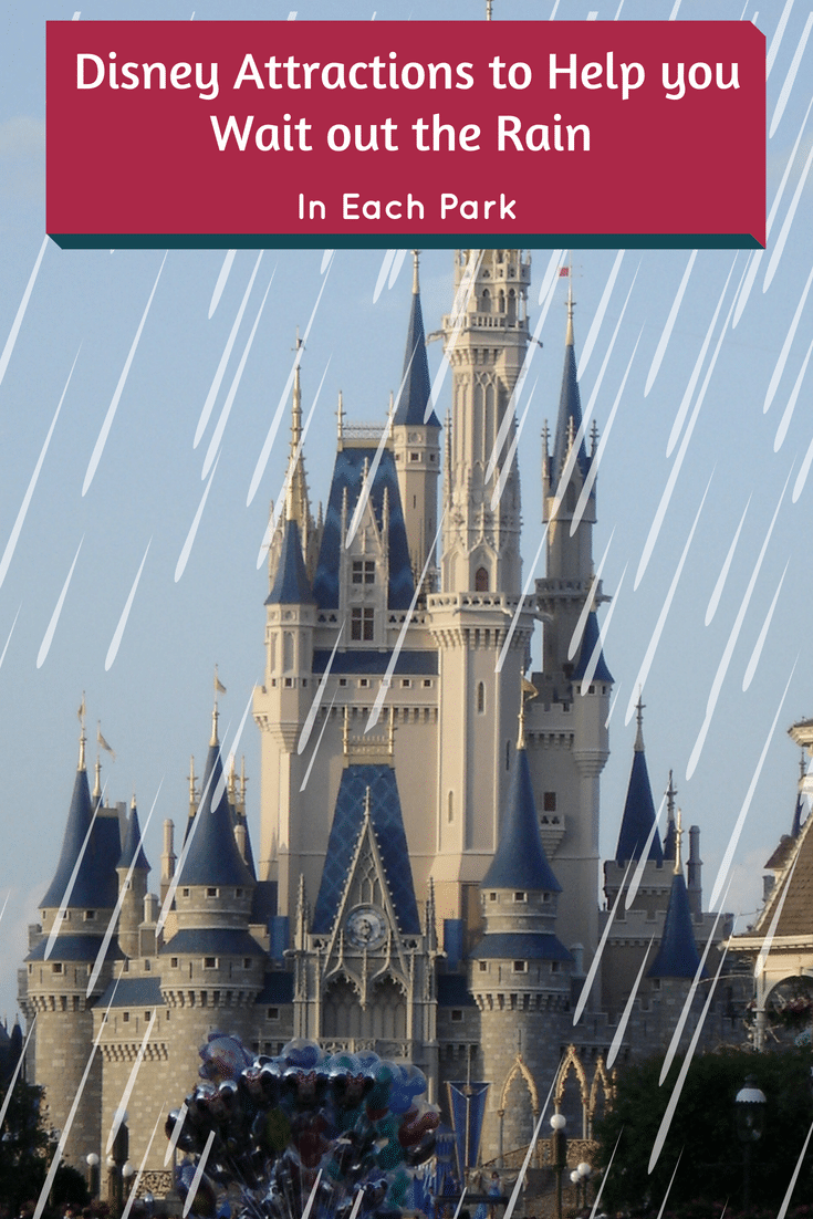 Check out the following Disney Attractions to Help you Wait out the Rain in each park. Rain in Orlando can be frequent so it's best to plan ahead.