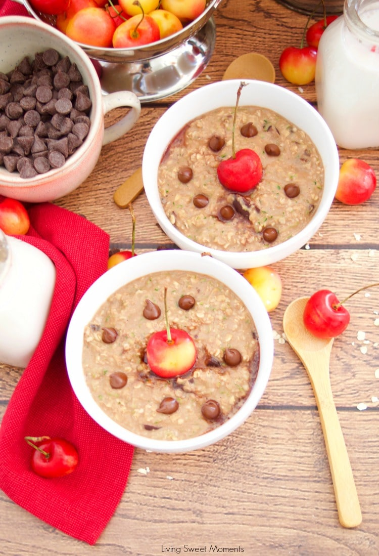 Check out this amazing recipe for Chocolate Cherry Zoats is a filling breakfast that will keep you going all day