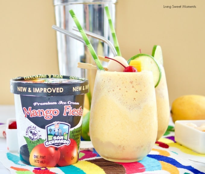 These refreshing Mango Lychee Wine Slushies have a touch of ginger and lime to give your summer drinks a new twist. Made with San Bernardo Mango Fiesta