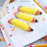 Check out these easy to make and whimsical Pencil Shaped Cereal Treats with Fruity Pebbles