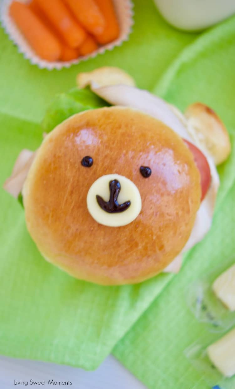 Check out how to make these delicious & adorable Teddy Bear Sandwich Buns made from scratch. Nose made with cheese
