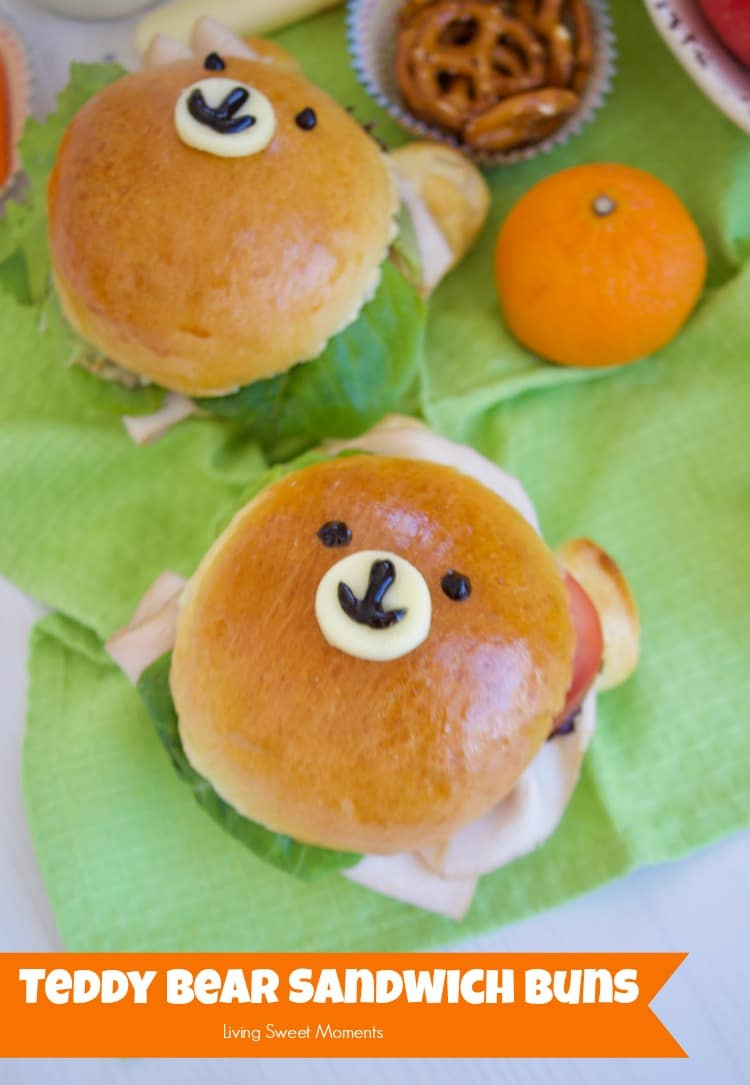 Check out how to make these delicious & adorable Teddy Bear Sandwich Buns. Fill them with your favorite ingredients. Perfect for the lunchbox!