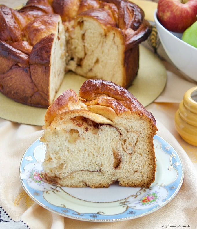 Celebrate a sweet new year with this delicious round Apple Honey Challah recipe. Serve on erev Rosh Hashanah or have a slice for breakfast.
