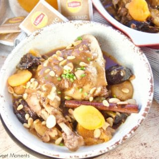 Instant Pot Moroccan Chicken Served With Passion Fruit Black Iced Tea