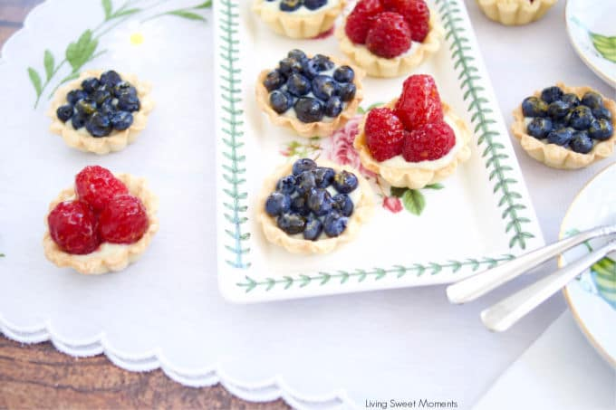 Perfect for any occasion, these elegant Mini Berry Tarts are made with a buttery crust, vanilla pastry cream and fresh berries on top