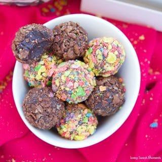 Pebbles Cereal Fudgy Brigadeiros
