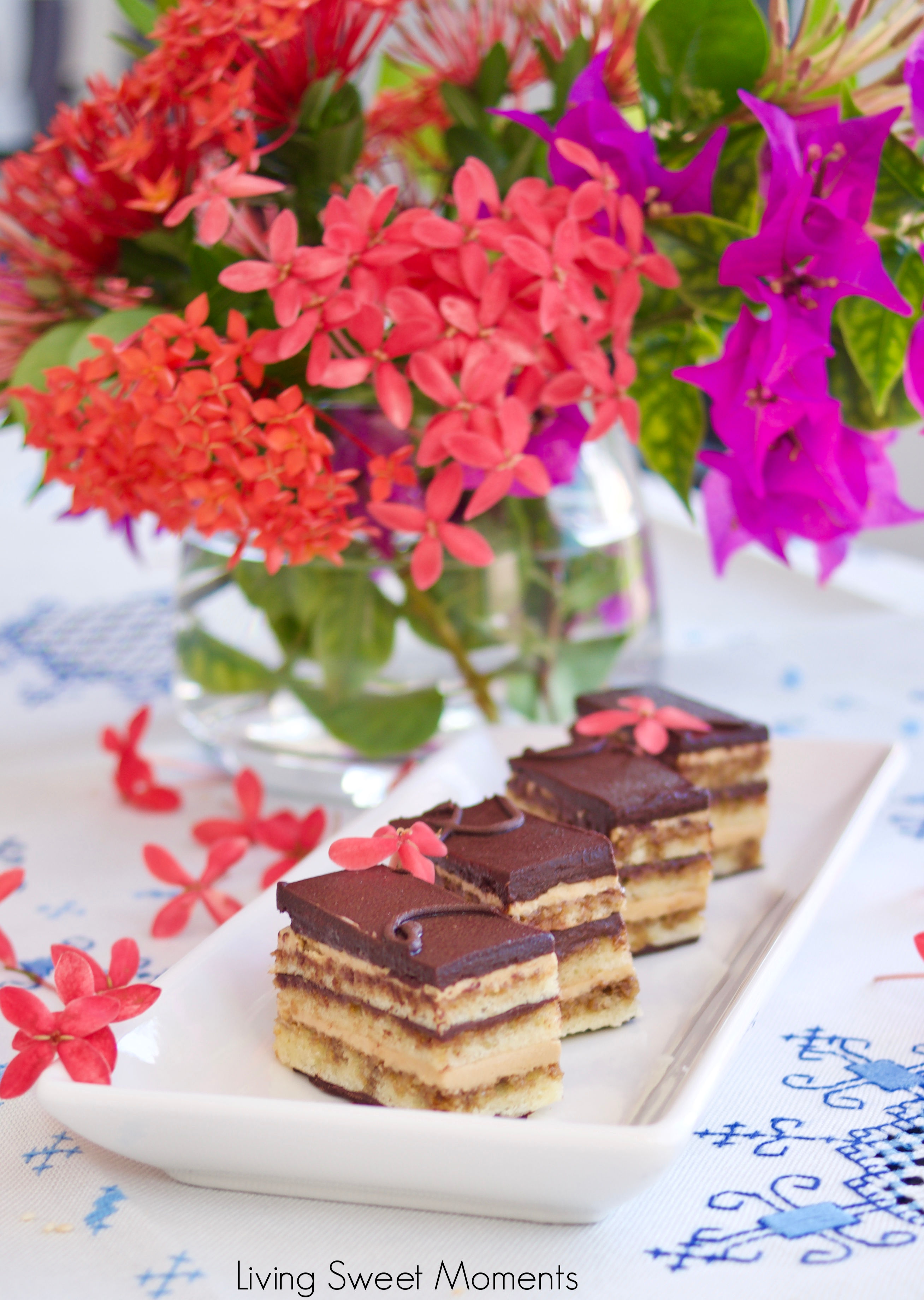 My favorite French dessert. This scrumptious classic Opera Cake recipe is composed of 7 layers of cake, chocolate, and coffee flavored french buttercream.