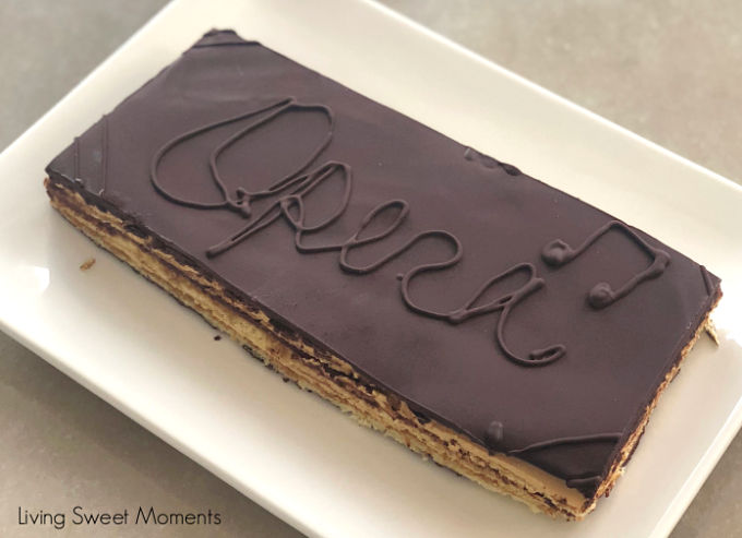 My favorite French dessert. This scrumptious classic Opera Cake recipe step by step instructions