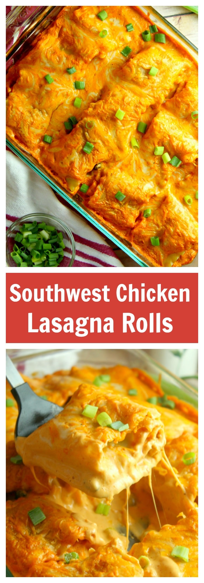 Have a comforting and flavorful dinner on the table in less than one hour with this delicious Southwest Chicken Lasagna Rolls recipe. Freezable too!