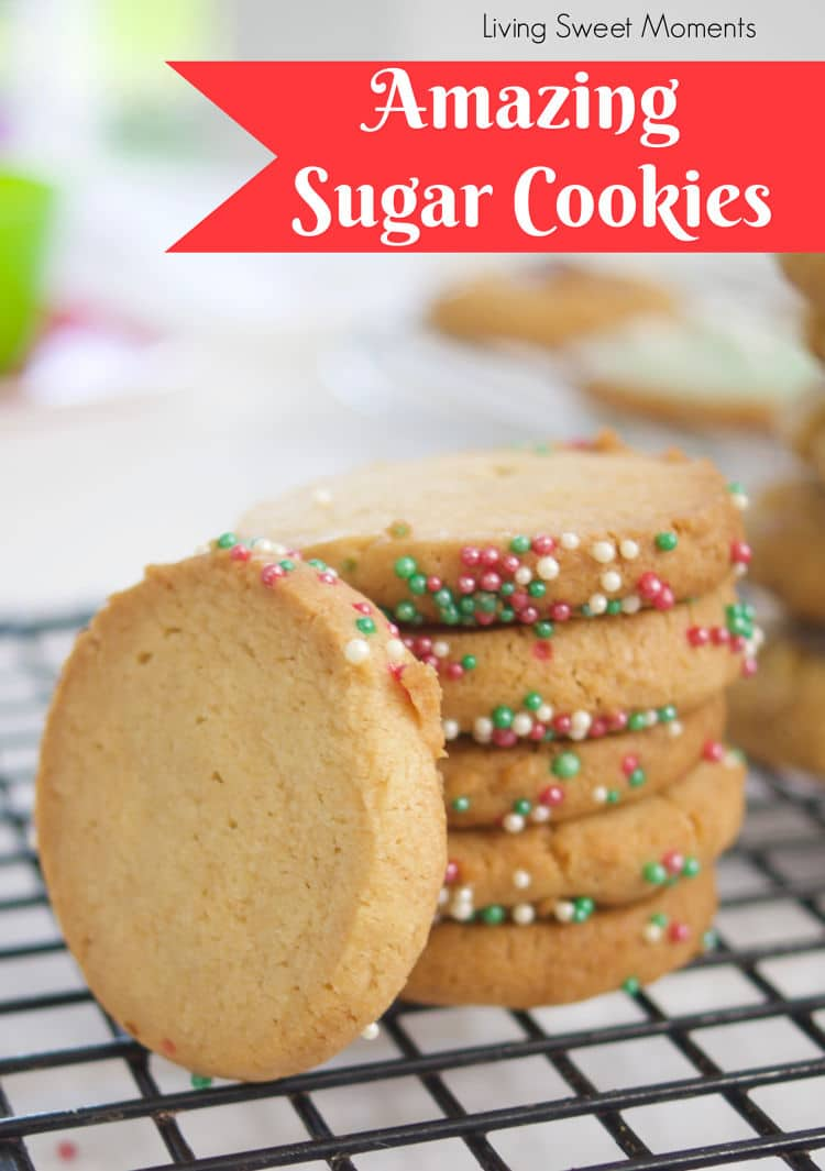 These amazing sugar cookies are not only delicious but versatile as well. They are ideal for rolling & cutting out shapes, droppin and even slice & bake.
