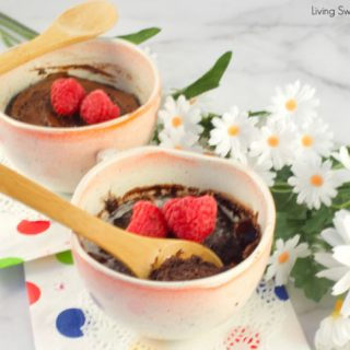 Satisfy your sweet cravings in 5 minutes or less with this delicious and fudgy Keto Mug Cake. Enjoy a healthy dessert that's moist, tender & full of flavor