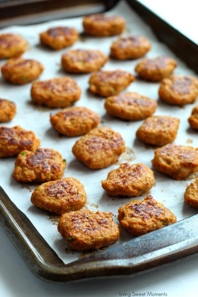 These delicious Sweet Potato Chicken Nuggets are baked to perfection and are Whole 30 & Paleo friendly. Perfect for a healthy kid-friendly weeknight dinner.