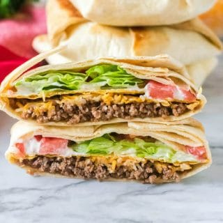 Skip the drive thru lane and enjoy a delicious meal at home. This Copycat Taco Bell Crunch Wrap recipe is easy to make, healthier and ready in no time.